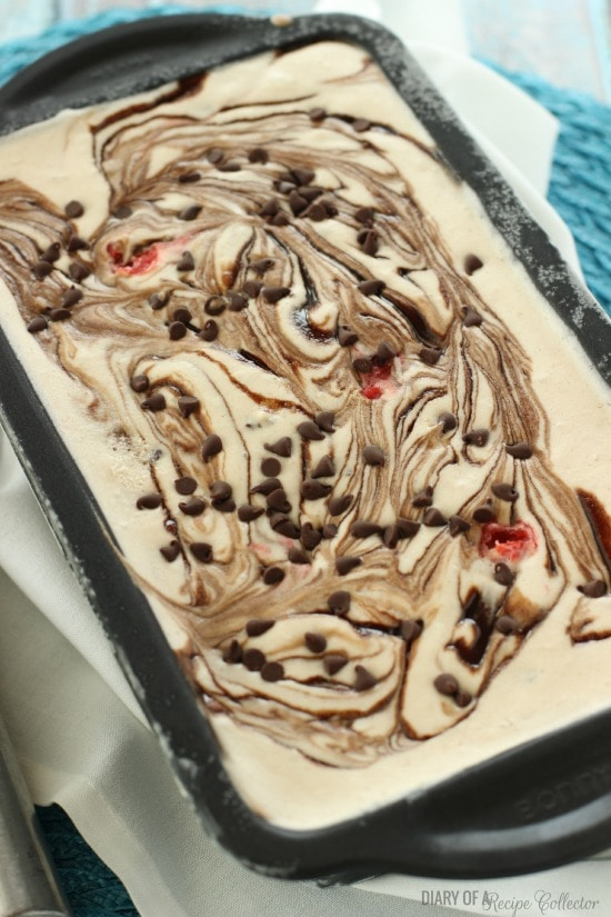 No Churn Banana Split Ice Cream - Diary of a Recipe Collector