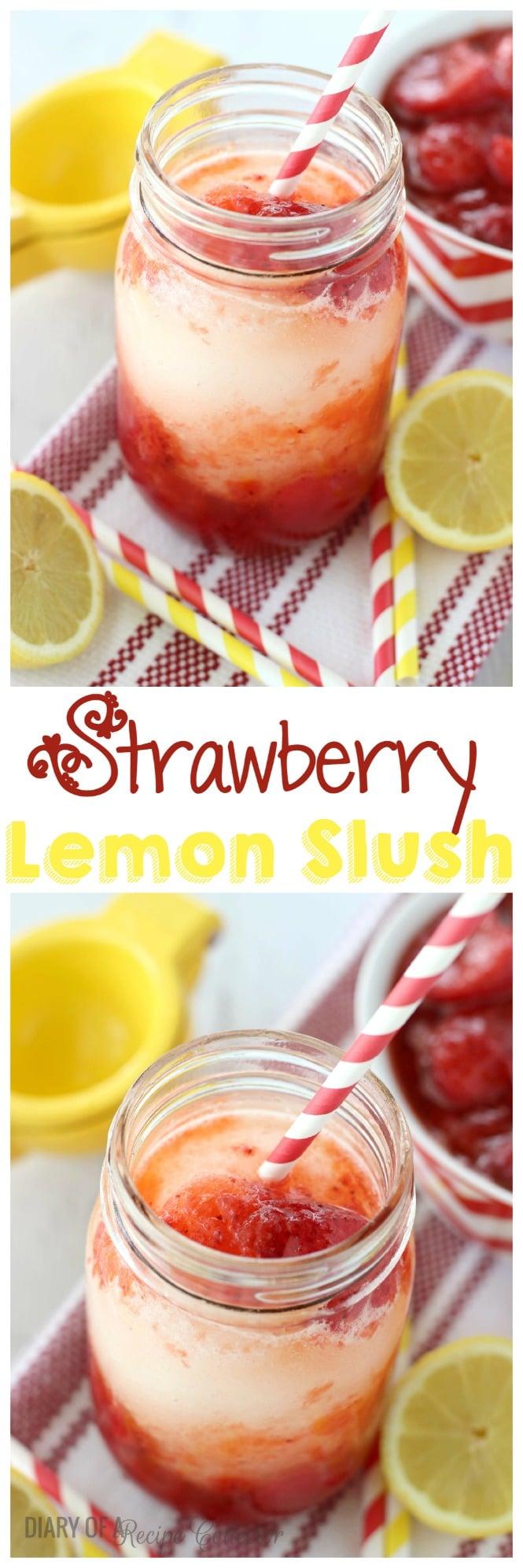 Strawberry Lemon Slush - Diary of a Recipe Collector