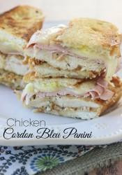 Chicken Cordon Bleu Panini