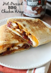 Hot Pressed BBQ Chicken Wrap