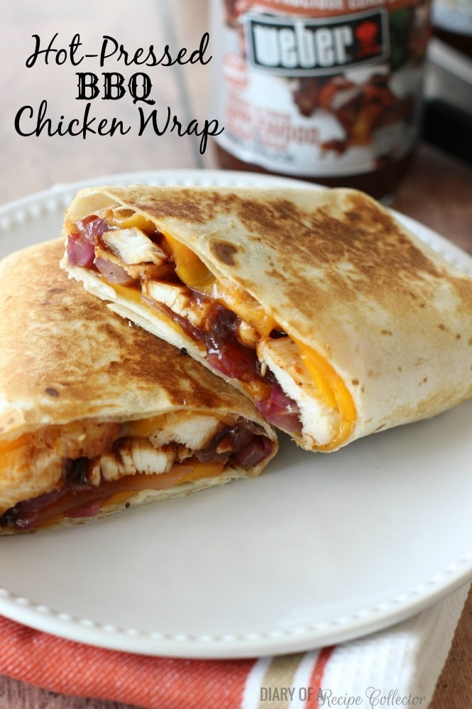 Hot-Pressed BBQ Chicken Wrap