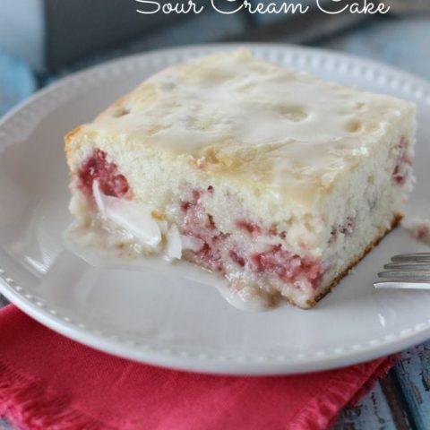 Strawberry Sour Cream Cake