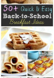 50+ Back to School Breakfast Ideas