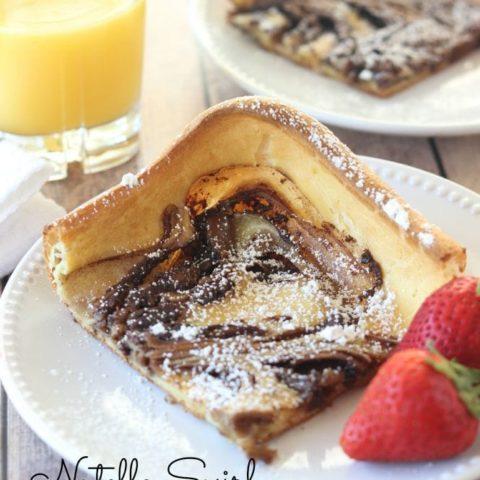 Nutella Swirl Puffy Pancake