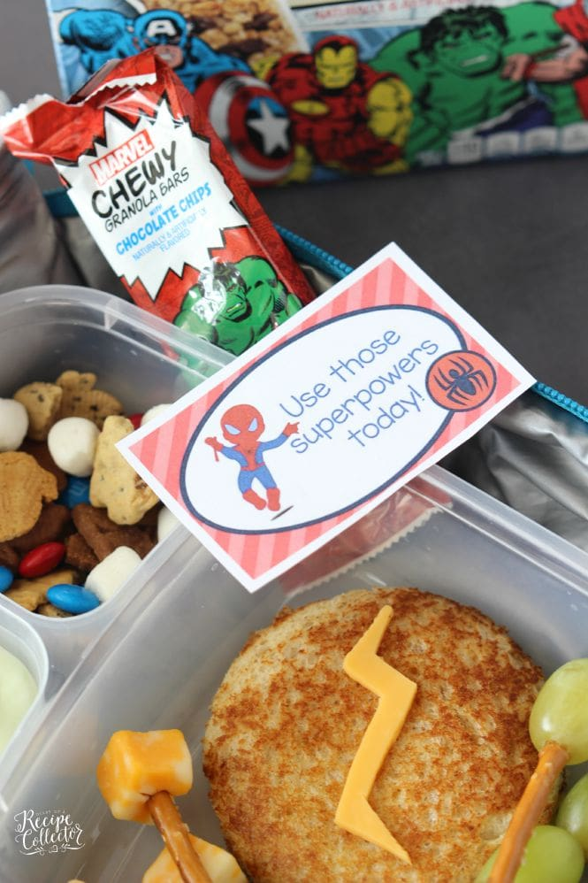 Superhero Lunch Box with FREE Lunch Box Notes