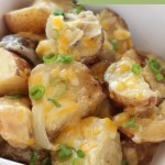 Slow Cooker Potatoes - A great potato side dish that is easy to put together. It goes perfect with chicken, beef, or pork too!
