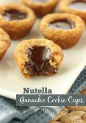 Nutella Ganache Cookie Cups