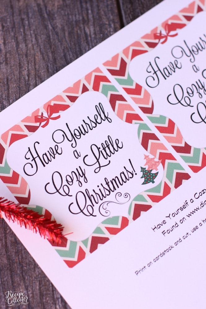 Cozy Little Christmas Tag & Gift Idea - Diary of A Recipe Collector