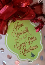 Cozy Little Christmas Tag & Gift Idea