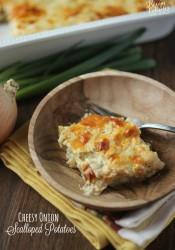 Cheesy Onion Scalloped Potatoes