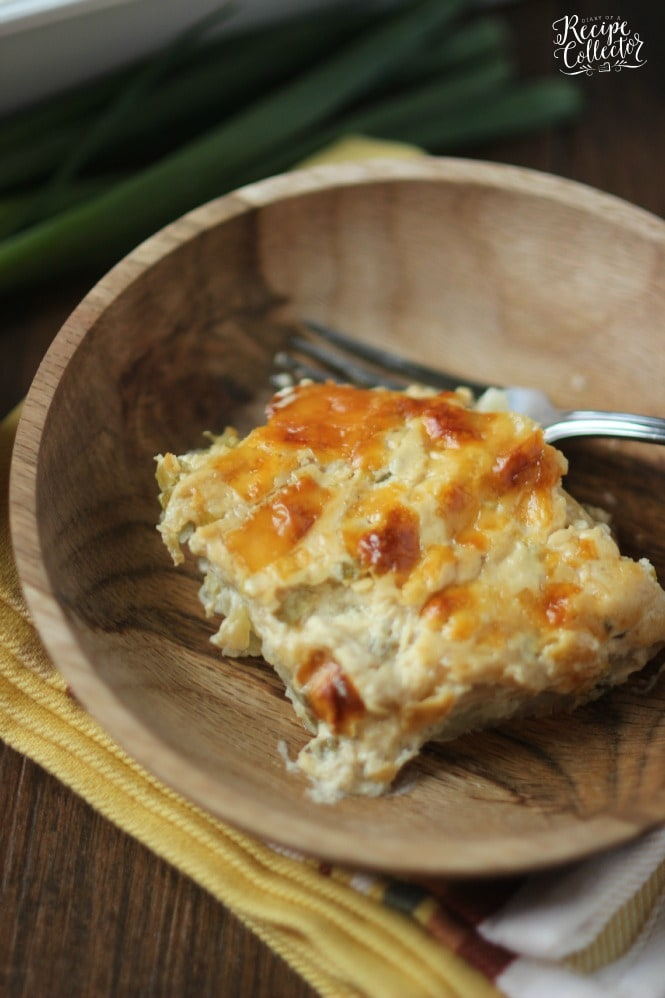 Cheesy Onion Scalloped Potatoes - Layers of thinly sliced potatoes in a rich and creamy sauce filled with caramelized onion flavor.