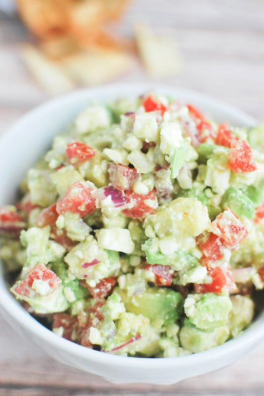 10 Holiday Appetizers for New Year's Eve - Avocado Feta Salsa