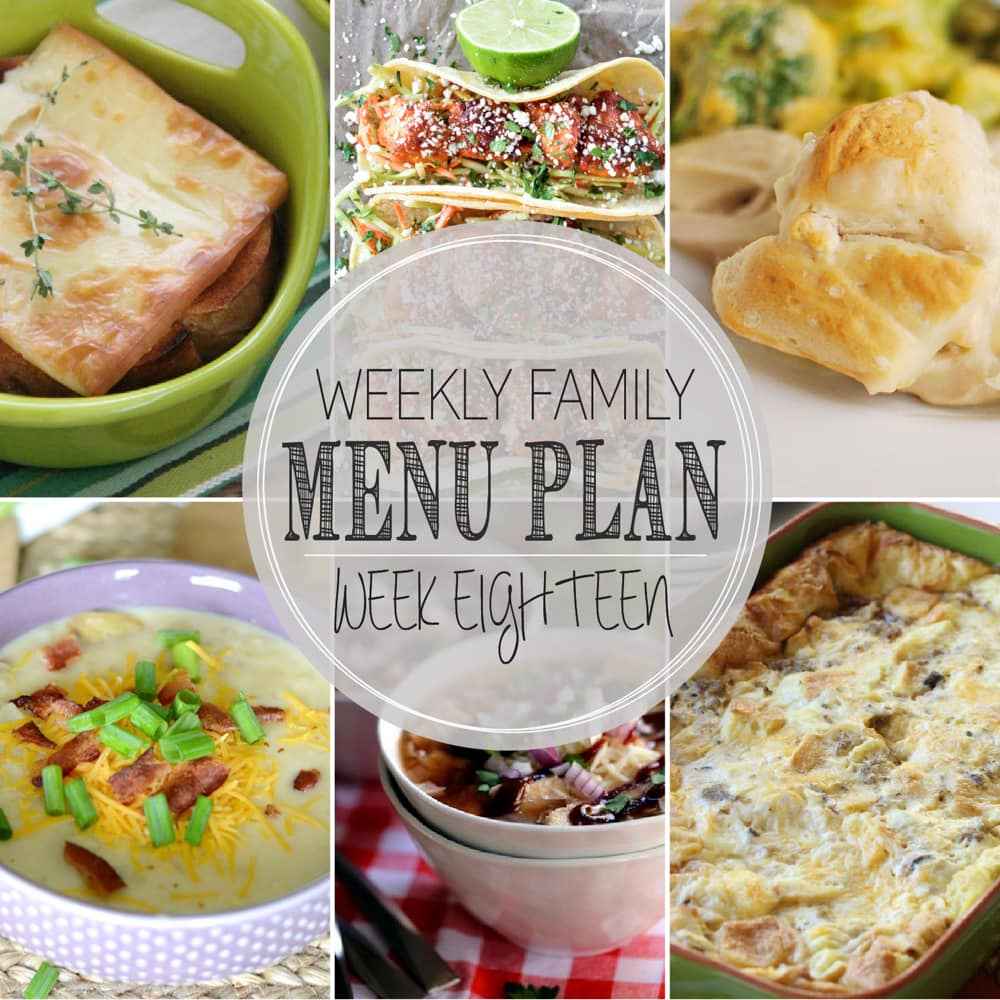 Weekly Family Meal Plan 18