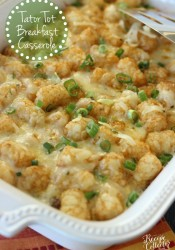 Tator Tot Breakfast Casserole
