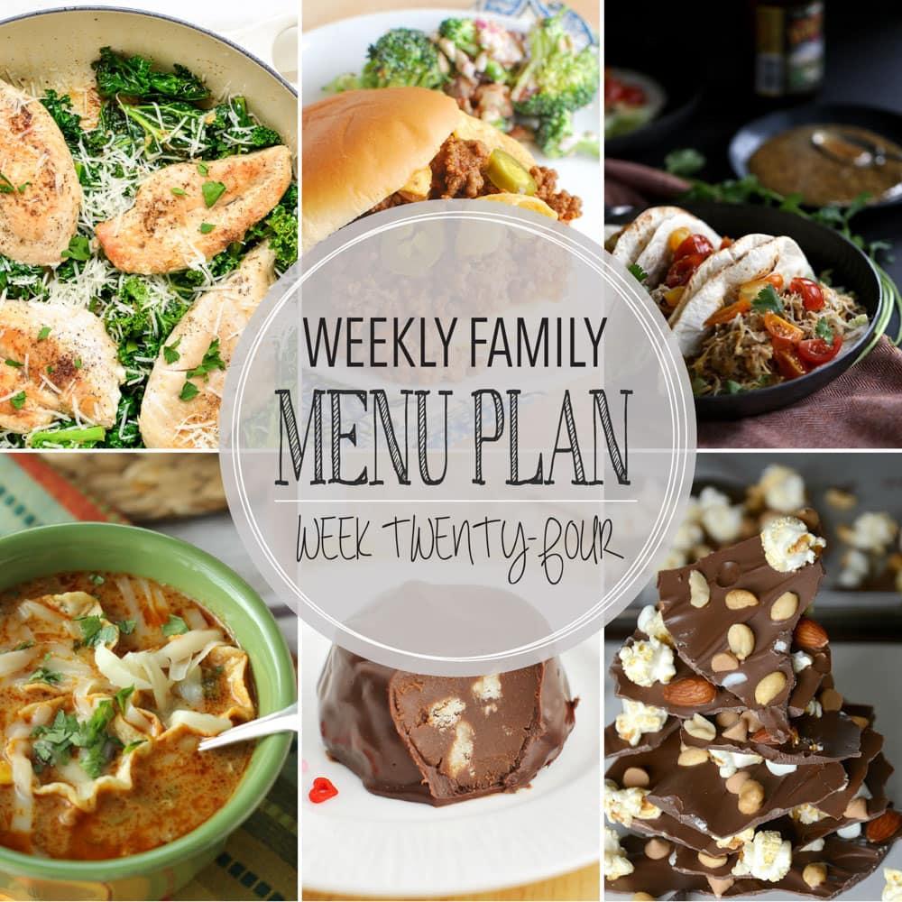 Weekly Meal Plan #24