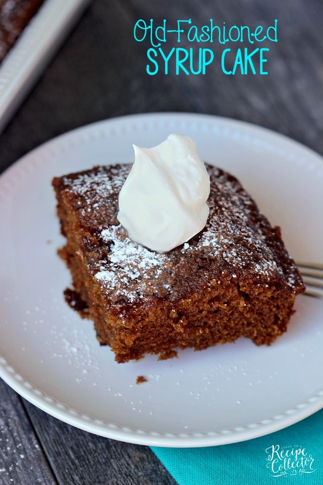 Old Fashioned Syrup Cake - A wonderful old-fashioned cake recipe made with Steen's cane syrup. -