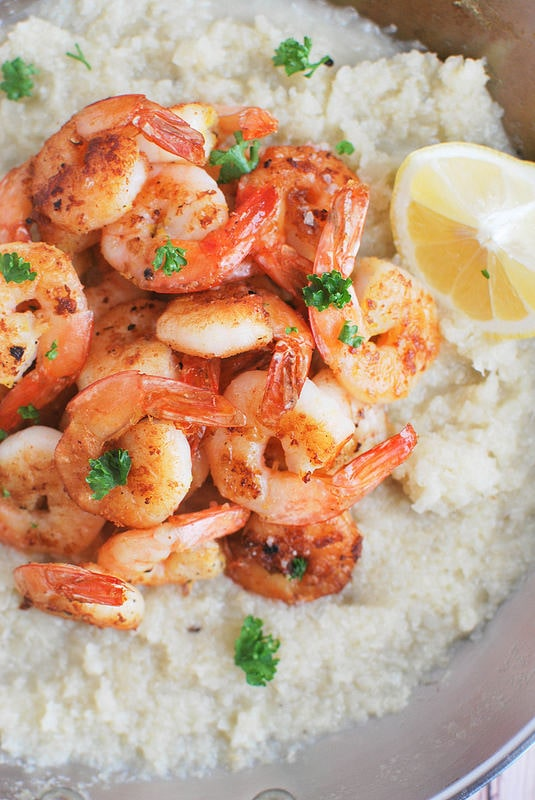 Weekly Family Meal Plan - Paleo Shrimp and Grits