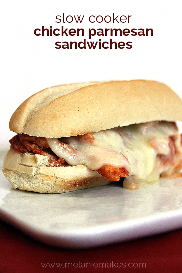 Weekly Family Meal Plan - Slow Cooker Chicken Parmesan Sandwiches
