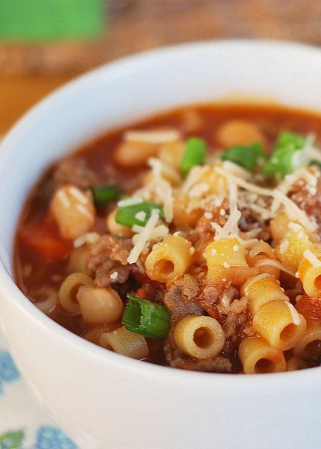 Weekly Family Meal Plan - Pasta Fagioli