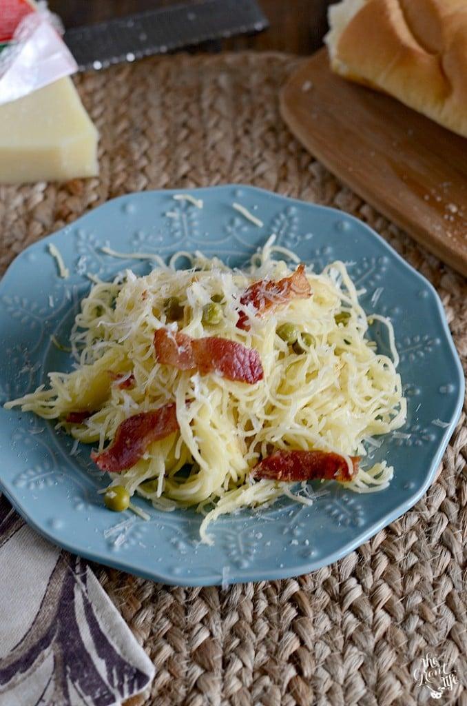 Weekly Family Meal Plan - Homemade Pasta Carbonara
