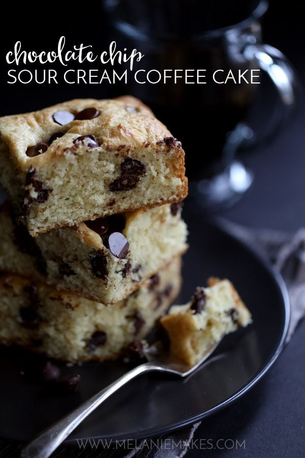 Weekly Family Meal Plan - Chocolate Chip Sour Cream Coffee Cake