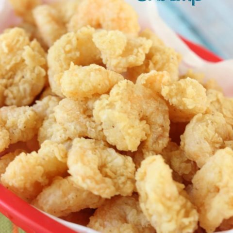 Easy Popcorn Fried Shrimp - This recipe has the key to getting that light, tender, and flaky crust on shrimp!