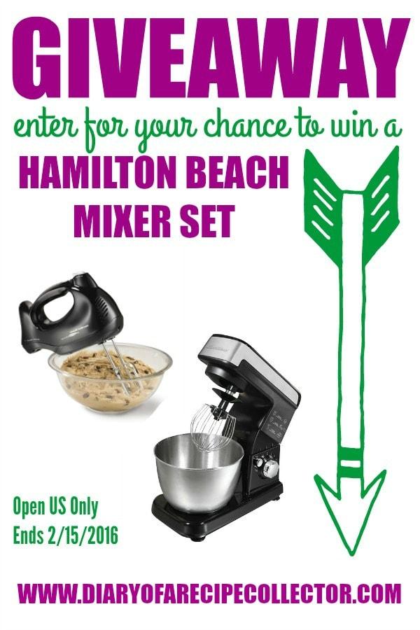 Hamilton Beach Mixer Set Giveaway