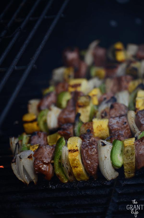 Weekly Family Meal Plan - Italian Steak Kabobs