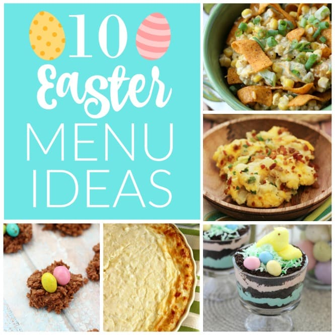 10 Easter Menu Ideas - Check out several of these popular recipes that would perfect for your Easter menu including several side dishes and desserts!