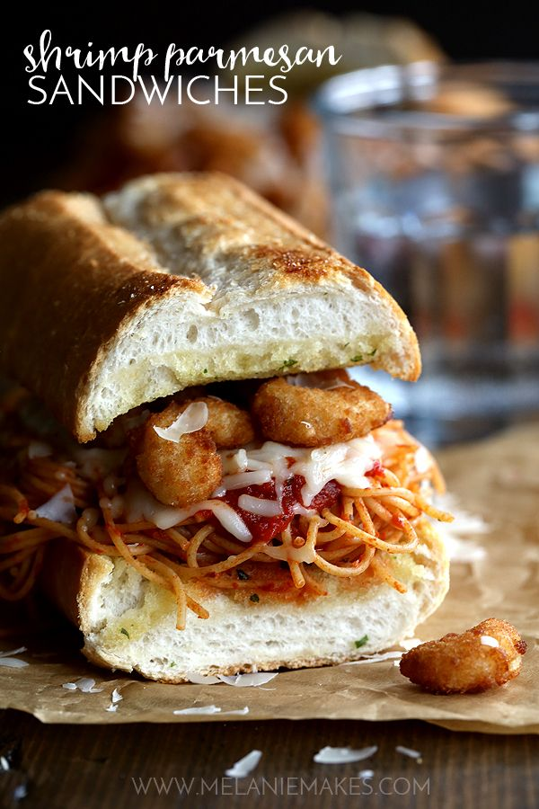 Weekly Family Meal Plan - Shrimp Parmesan Sandwiches