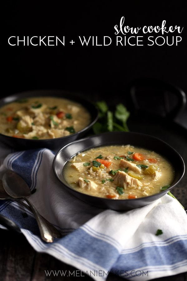 Weekly Family Meal Plan - Slow Cooker Chicken and Wild Rice Soup