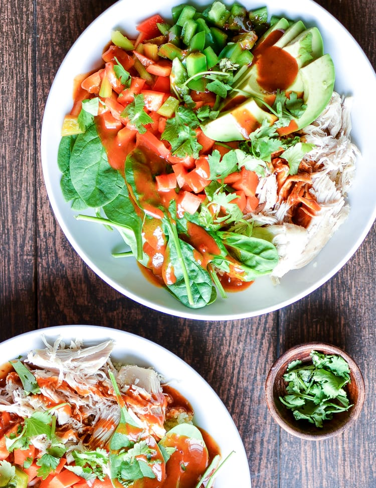 Weekly Family Meal Plan -Thai Chopped Chicken Salad Quinoa Bowls