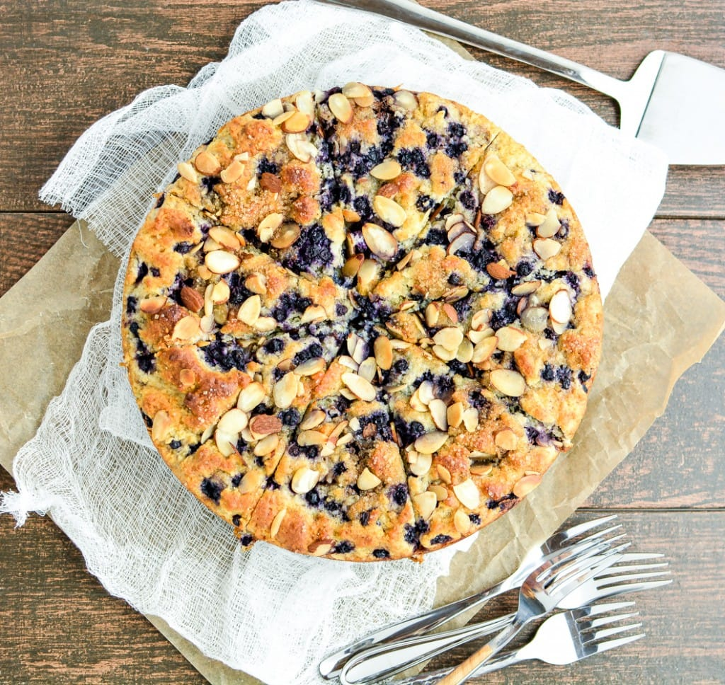 Weekly Family Meal Plan - Gluten Free Blueberry Almond Coffee Cake