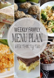 Weekly Family Meal Plan #32