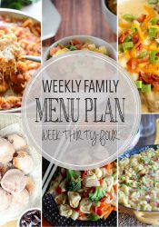 Weekly Family Meal Plan #34