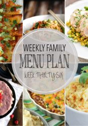Weekly Family Meal Plan #36