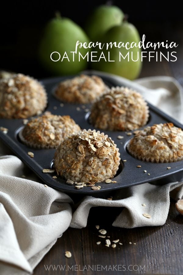Weekly Family Meal Plan - Pear Macadamia Oatmeal Muffins