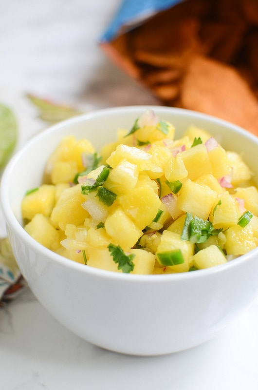 Weekly Family Meal Plan - Pineapple Salsa