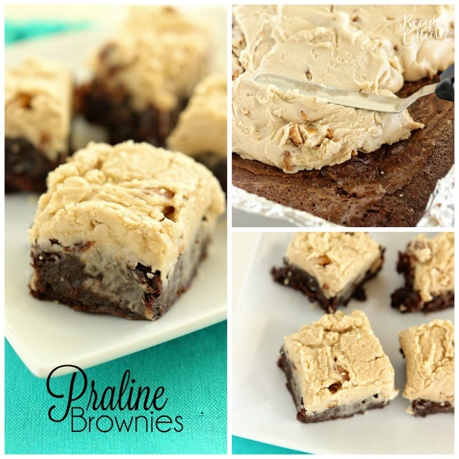 Praline Brownies - Decadent fudge brownies topped with a perfect praline icing!