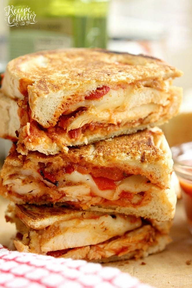 Chicken Parmesan Panini - Grilled sandwiches filled with crispy ...