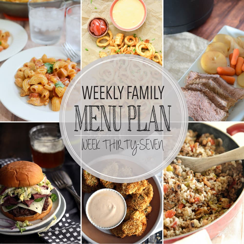 Weekly Family Meal Plan #37