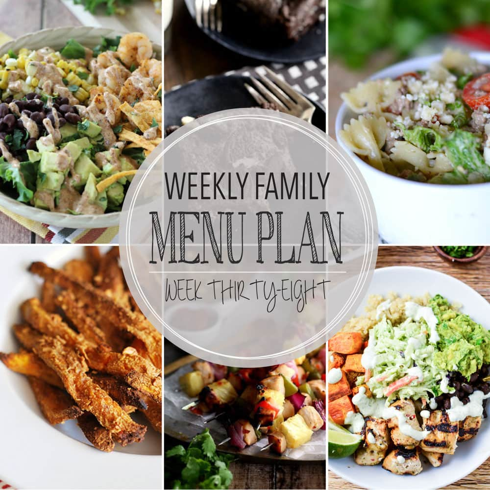 Weekly Family Meal Plan #38