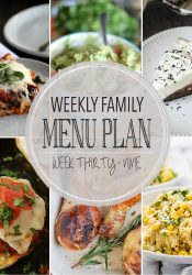 Weekly Family Meal Plan #39
