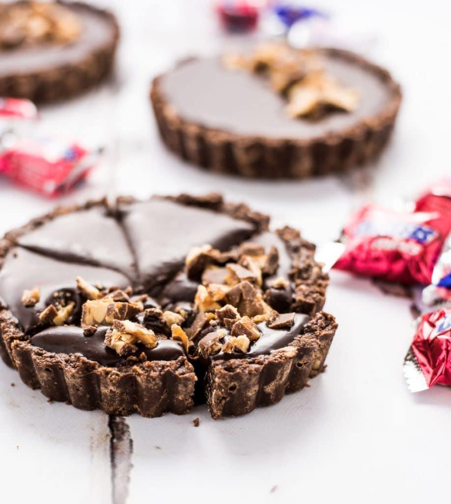No Bake Snickers Tart