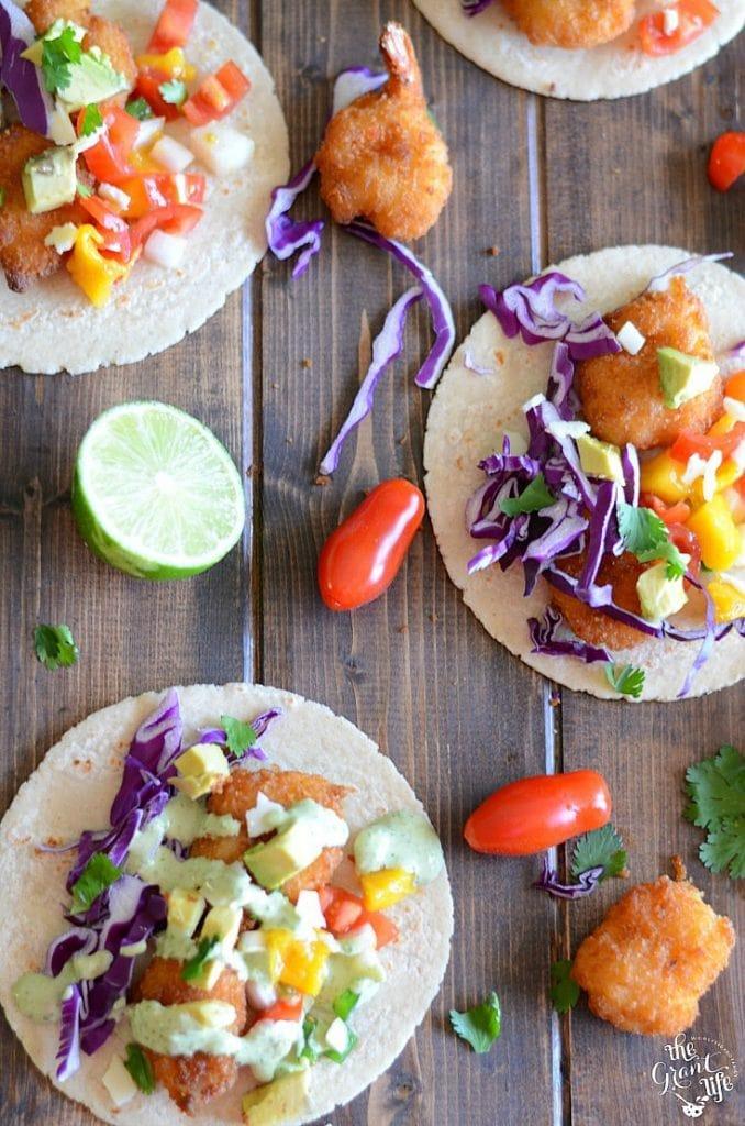 Weekly Family Meal Plan -Mango Shrimp Tacos