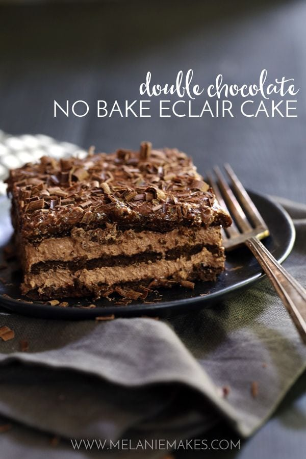 Weekly Family Meal Plan - Double Chocolate No Bake Eclair Cake