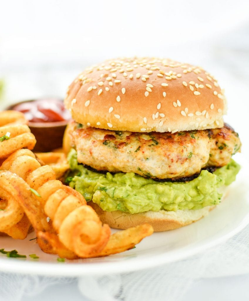 Weekly Family Meal Plan - Grilled Chicken Burgers with Guacamole
