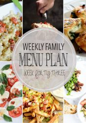 Weekly Family Meal Plan #43