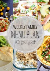 Weekly Family Meal Plan #44