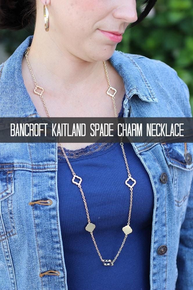 Stitch Fix Styles Bancroft Kaitland Spade Charm Necklace